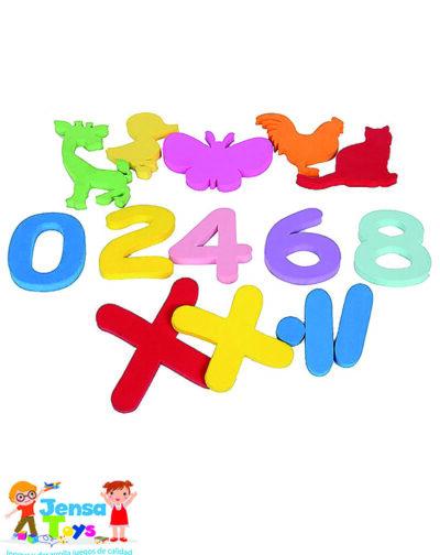 Siluetas de Figuras y Números – Redimensionado con logo